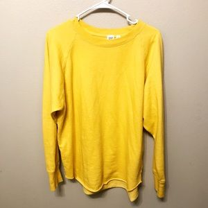 Yellow Gap Oversized Sweatshirt